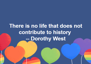 Author (novels, short stories) Dorothy West: http://time.com/4199755/dorothy-west-history/