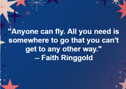 Beloved author, Faith Ringgold: http://www.faithringgold.com/