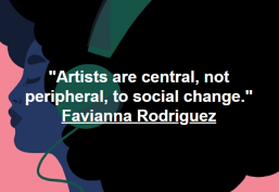 Artist and activist, Favianna Rodriguez, a real-time inspiration to me (and one time she responded to my FB message, so now I've got a huge crush <3) http://favianna.tumblr.com/