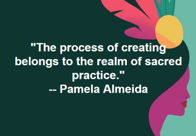 Dancer, visual artist, crafter, scholar Pamela Almeida: http://www.archetypalmusings.com/