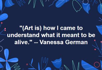 Citizen artist, Vanessa German (she's amazing): http://pavelzoubok.com/artist/vanessa-german/