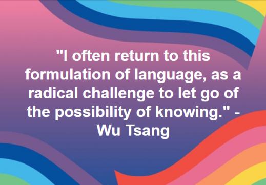 Filmmaker, artist, performer, Wu Tsang: http://wutsang.com/